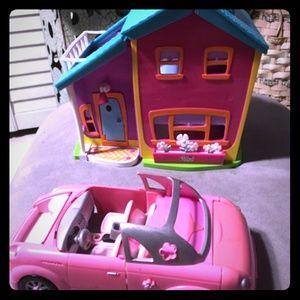 Polly pocket house and car